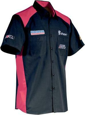 Throttle Threads Team Parts Unlimited Shop Shirt Black/Red Small