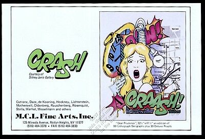 1989 Crash graffiti artist John Matos art MCL Fine Arts vintage print ad