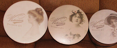 3 Vintage Look Nesting Hat Boxes New