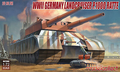 MODELCOLLECT UA72088 WWII German Landkreuzer P.1000 Ratte in 1:72