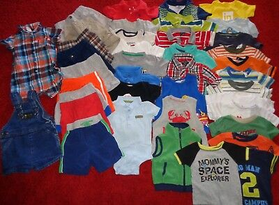 Huge 40 Pc Lot Boys Summer Clothes Outfits Us Polo Shorts Wardrobe Size 18 Mo.