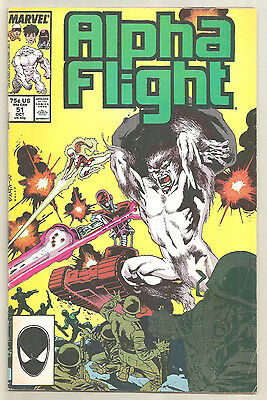 Alpha Flight # 51 Marvel Comics 1987 1st Jim Lee work at Marvel