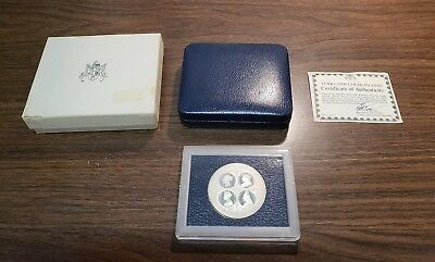 Turks And Caicos Islands 1976 20 Crowns Proof Silver Coin In Box With C.O.A.