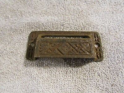 Antique Eastlake Victorian Decorative Window Drawer Pull Handle with Window