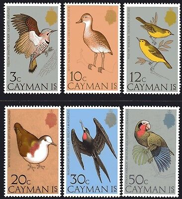 Cayman Islands 1975 Birds 2nd Issue set of 6 Mint Unhinged