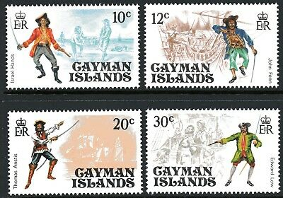 Cayman Islands 1975 Pirates set of 4 Mint Unhinged