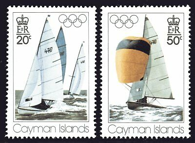 Cayman Islands 1976 Olympic Games set of 2 Mint Unhinged