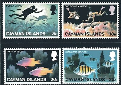 Cayman Islands 1977 Tourism set of 4 Mint Unhinged