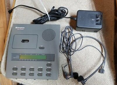 Dictaphone 1750 Minicassette Player with Headset Earpiece, Foot Pedal