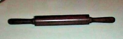 Small Dark Wood Rolling Pin  14 Inches Long and 4 1/2 Inch Diameter