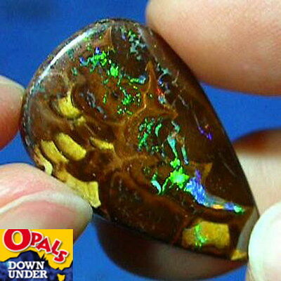 Bright Greens * 25ct Natural Australian Solid Yowah Boulder Opal * See Video