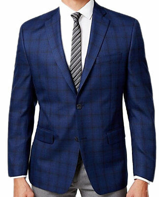 NEW Mens Michael Kors Dark Blue Black Sport Coat Jacket