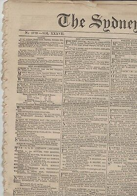 1856 Sydney Morning Hearald 8 pages with few faults