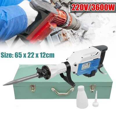 3600W/220V Electric Demolition Jack Hammer Concrete Breaker Punch Chisel Bit