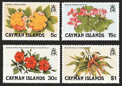 Cayman Islands 1980 Flowers 1st Issue set of 4 MUH