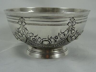 PRETTY VICTORIAN silver SUGAR BOWL, 1882, 147gm