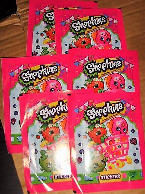 Shopkins Stickers X 6 Packets New