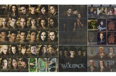 Twilight Saga New Moon Complete 112 Master Update Set + Autograph Trading Cards