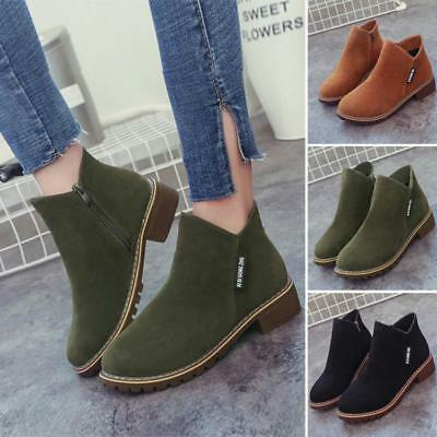 Women Ankle Boots Short Martin Boots Chunky Heels Boots Female Fashion Shoes LG