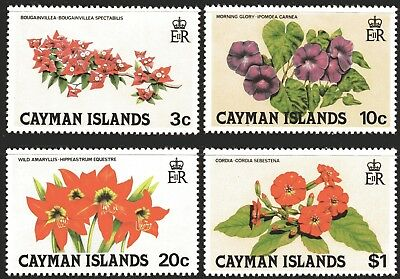 Cayman Islands 1981 Flowers 2nd Issue set of 4 MUH