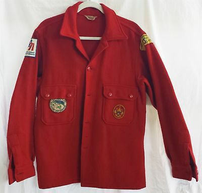 1960s vintage WOOL BOY SCOUT JACKET hawk blue mountain reservation 71 expo SZ 40