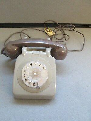 British Telecom 761F Two-Tone Grey Corded Rotary Dial Telephone 1979