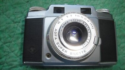 Vintage Agfa Super Silette Rangefinder 35mm camera Apotar 2.8/45mm lens working