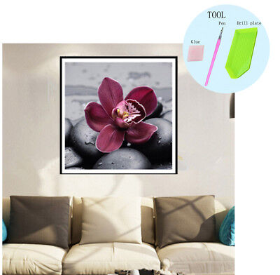 Blume 5D Diamant Malerei Kreuzstich Diamond Painting DIY Stickerei Bilder 30x30