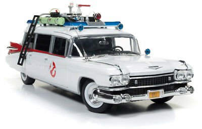 Auto World 1:18 Ghostbusters Ecto-1Diecast Collectable Car Cadillac 1959 NEW