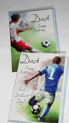 DAD BIRTHDAY CARDS X 12, JUST 27p, wrapped, foiled, 2 designs, (B521