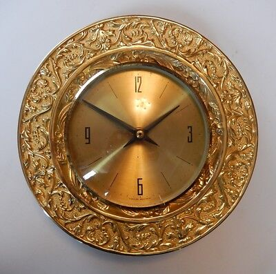 Superb Vintage Spartus Brass Case Wall Clock  2798