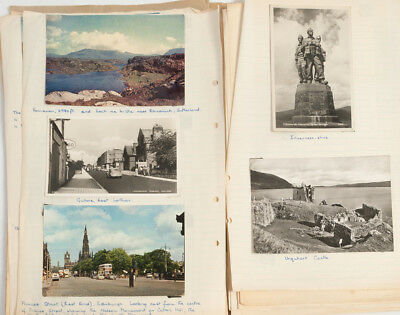1950's Postcard Collection 98 Cards UK Wales Scotland Iceland Sweden Swiss Misc.