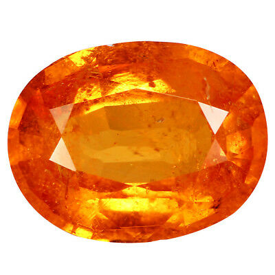 4.62Ct Charming Oval cut 12 x 9 mm AAA 100% Natural Orange Spessartite