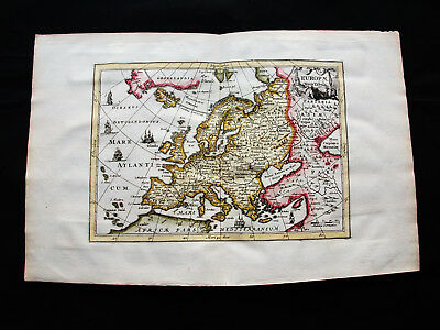 1676 VAN DER KEERE - orig. map: Europae Descriptio, Europe, Italy Ireland Russia