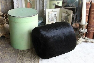 Vintage French Real Fur Muff Hand Warmer In Original Box Theatre Prop or Wedding