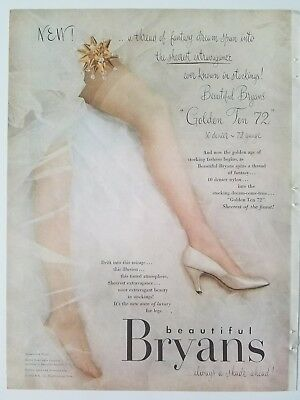 1953 beautiful Bryan's women's stockings Hosiery nylons legs ad