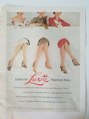 1953 LUXITE women's proportioned nylons stockings Hosiery legs ad