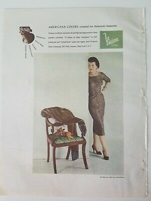 1953 VISION women's nylon stockings Hosiery Legs colors for American beauties ad