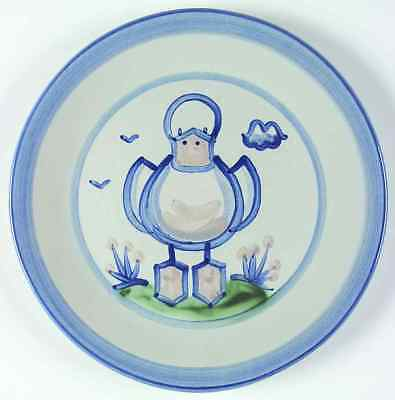 M A Hadley COUNTRY SCENE BLUE Duck Dinner Plate 5757457