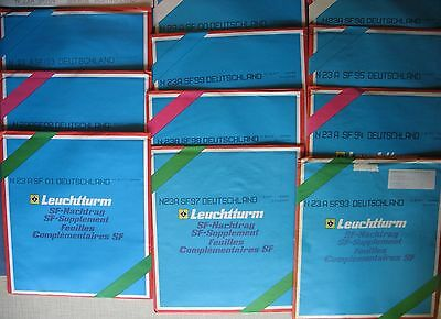 Leuchtturm Pre-printed Sheets Germany Vintage 1993-2004 SF supplement