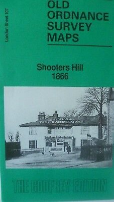 Old Ordnance Survey Map Shooters Hill near Woolwich London 1866 Sheet 107 New