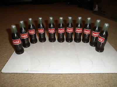 Set Of 11 Coca Cola Coke Self Inking Stamp Mini Bottles From 1998   5 Designs