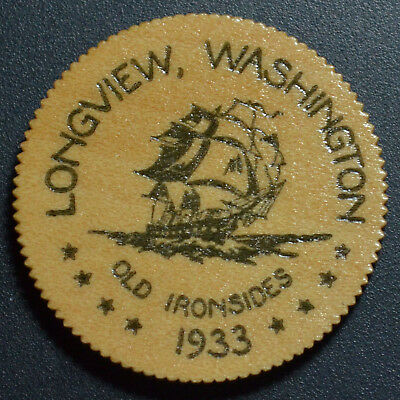 1933 LONGVIEW, WA, 25 CENTS WOODEN DEPRESSION SCRIP, WA186-.25a