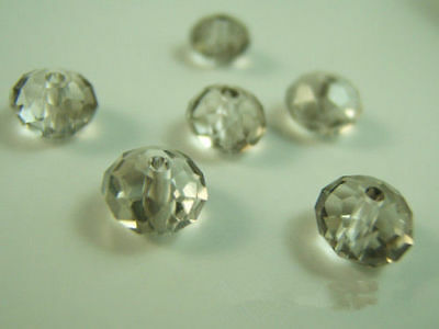 Crystal 4x6mm 100PCS TOP Beads 5040 Free findings Spacer Rondelle Gray Charms