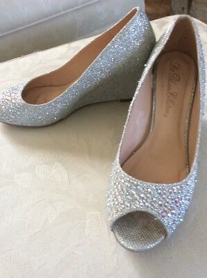 DE BLOSSOM COLLECTION Sparkly Rhinestone Bridal/Prom Shoes 6.5