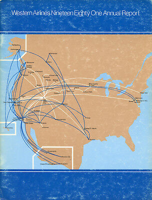 Western Airlines 1981 Annual Report