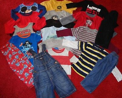Huge Lot Of Boys Clothes Old Navy Shorts Jeans Shirts Summer Wardrobe Size 3T 4T