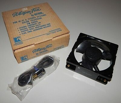 Vintage NOS Rotron Whisper Fan Hi-Fi Accessory W/ Original Box Hardware Cord