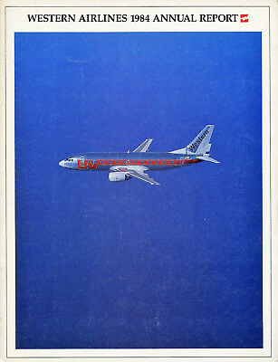 Western Airlines 1984 Annual Report