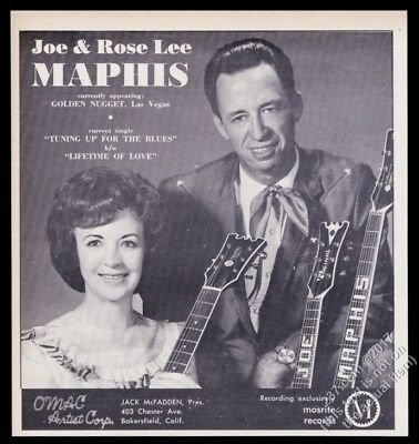 1966 Joe Rose Lee Maphis photo music trade booking print ad